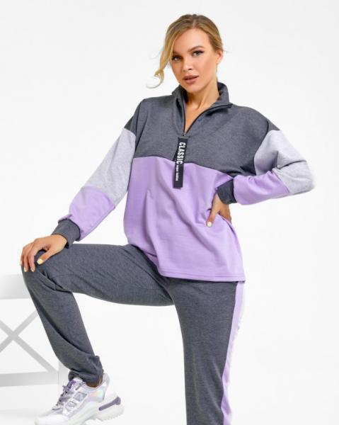 Фото  Спортивные костюмы ISSA PLUS 11001  S серый/сиреневый