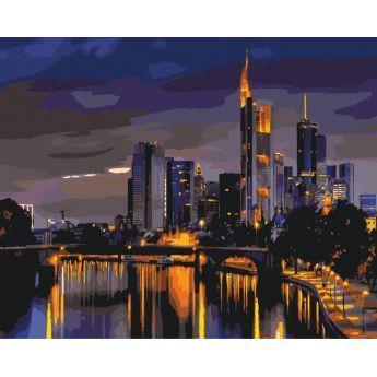 Фото Картины на холсте по номерам, Городской пейзаж KHO 2178