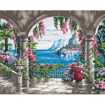 Фото Картины на холсте по номерам, Картины  в пакете (без коробки) 50х40см; 40х40см; 40х30см, Пейзаж, морской пейзаж. KHO 2235