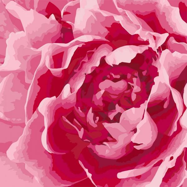 Фото Картины на холсте по номерам, Букеты, Цветы, Натюрморты KH 3060 Захватывающий букет  Роспись по номерам на холсте 40х40см