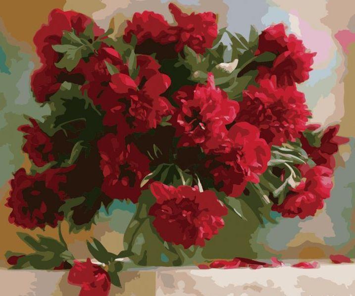Фото Картины на холсте по номерам, Картины  в пакете (без коробки) 50х40см; 40х40см; 40х30см, Цветы, букеты, натюрморты KHO 1133