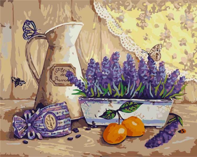 Фото Картины на холсте по номерам, Букеты, Цветы, Натюрморты KH 2211