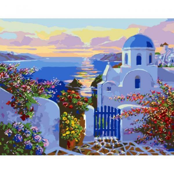 Фото Картины на холсте по номерам, Картины  в пакете (без коробки) 50х40см; 40х40см; 40х30см, Пейзаж, морской пейзаж. KHO 2162