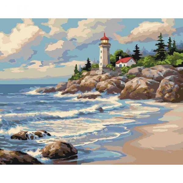Фото Картины на холсте по номерам, Морской пейзаж KH 2249