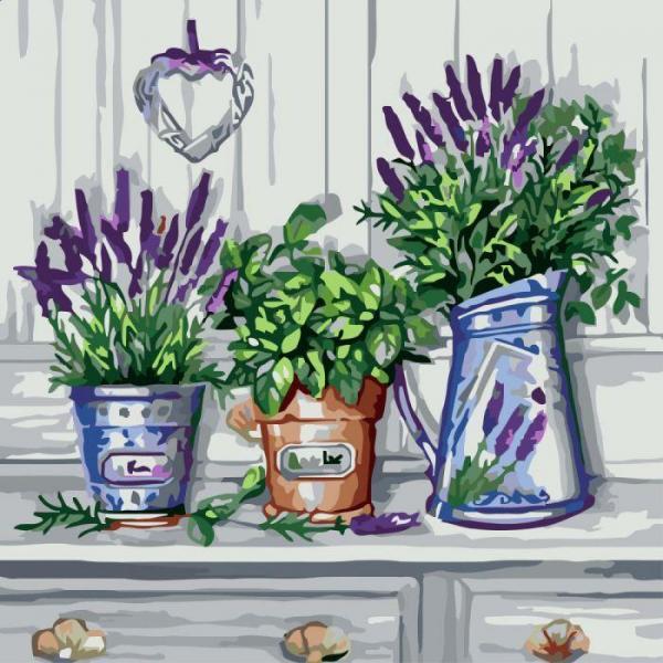 Фото Картины на холсте по номерам, Букеты, Цветы, Натюрморты KH 2210