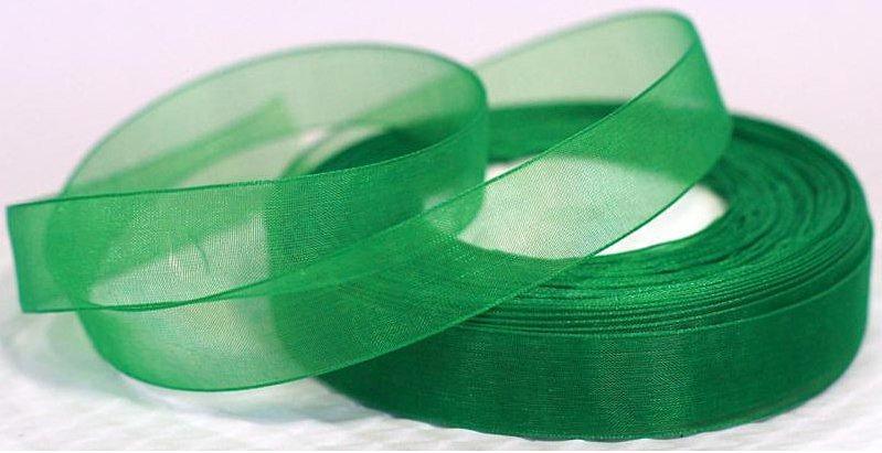 Фото Ленты, Лента органза однотонная Лента  Органза  2,5 см.  Зелёного  цвета.