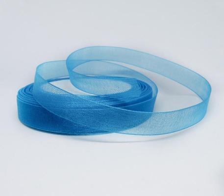 Фото Ленты, Лента органза однотонная Лента  Органза  2,5 см.  Синяя  (  светлая )