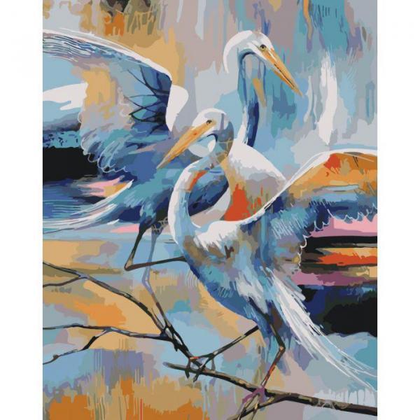 Фото Картины на холсте по номерам, Картины  в пакете (без коробки) 50х40см; 40х40см; 40х30см, Животные, птицы, рыбы KHO 4044