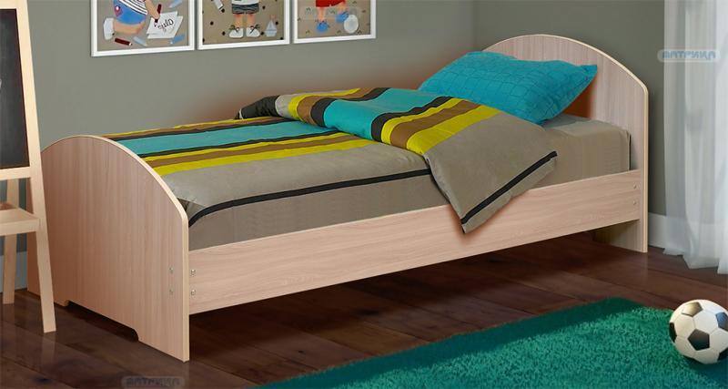 Фото Детская мебель, Детские кровати Кровать ЛДСП 0,9м (Матрица)