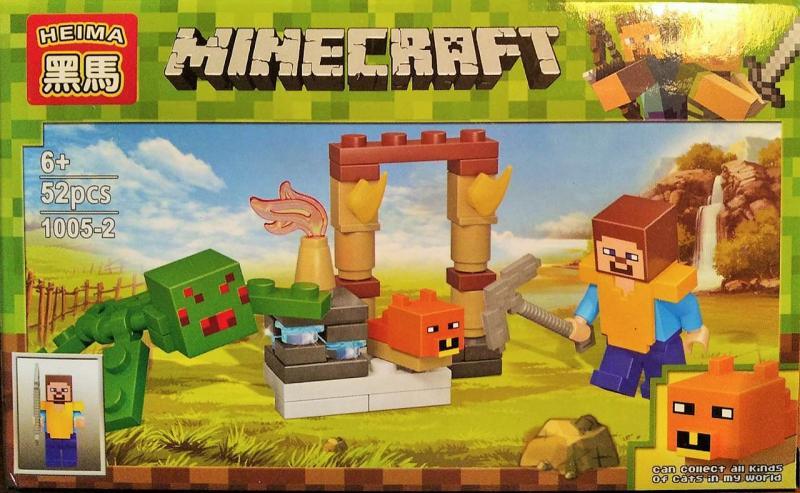 Фото Конструкторы, Конструкторы типа «Лего», Майнкрафт (minecraft) 1005-2 Конструктор Heima Minecraft, 52 дет.