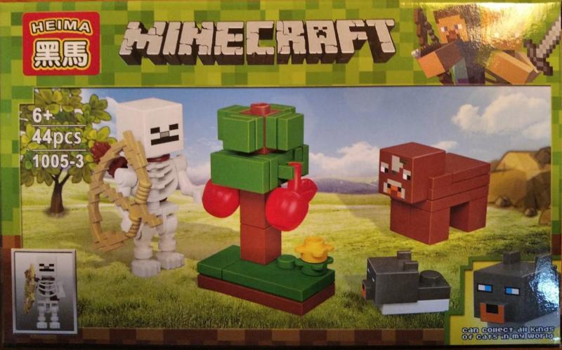 Фото Конструкторы, Конструкторы типа «Лего», Майнкрафт (minecraft) 1005-3 Конструктор Heima Minecraft, 44 дет.