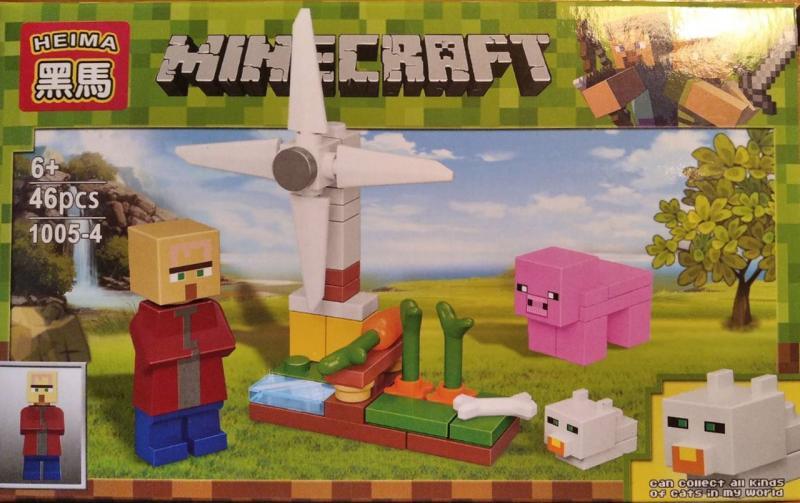 Фото Конструкторы, Конструкторы типа «Лего», Майнкрафт (minecraft) 1005-4 Конструктор Heima Minecraft, 46 дет.