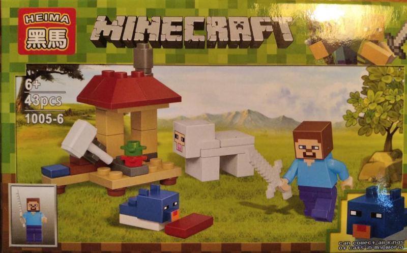 Фото Конструкторы, Конструкторы типа «Лего», Майнкрафт (minecraft) 1005-6 Конструктор Heima Minecraft, 43 дет.