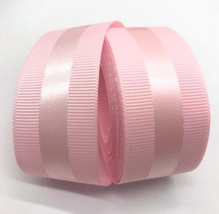 Фото Ленты, Ленты  VIP  класса. Репсовая  лента  40  мм. с  атласной  полоской  ,  цвет   Розовый .