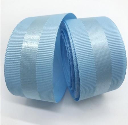 Фото Ленты, Ленты  VIP  класса. Репсовая  лента  40  мм. с  атласной  полоской  ,  цвет   Голубой .