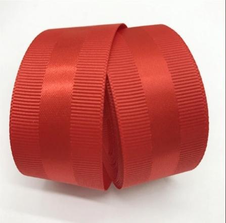Фото Ленты, Репсовая  и  тканевая  лента  VIP класса. Репсовая  лента  40  мм. с  атласной  полоской  ,  цвет   Красный .