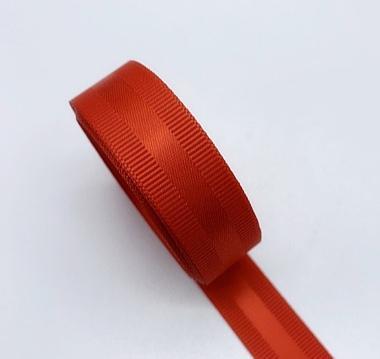 Фото Ленты, Ленты  VIP  класса. Репсовая  лента  25  мм. с  атласной  полоской  ,  цвет   Красный .