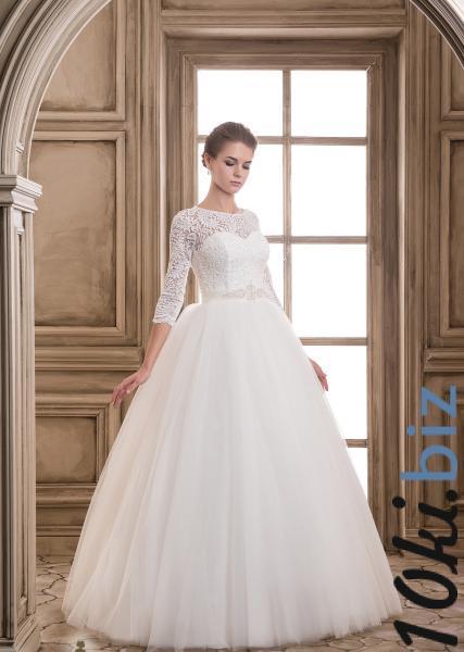 Свадебные платья - Пышное белое закрытое свадебное платье Леди