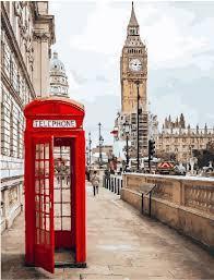 Фото Картины на холсте по номерам, Городской пейзаж KGX 26716 Символы Лондона Картина по номерам на холсте 40х50см