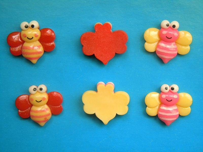 Фото Серединки ,кабашоны, Кабашоны детские мультики Кабашон  Пчёлка    20  *  19 мм.