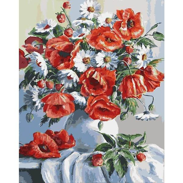Фото Картины на холсте по номерам, Букеты, Цветы, Натюрморты KGX 3812