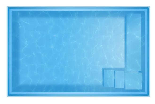 Фото Бассейны, Переливные бассейны Комо Композитный бассейн Комо 4   4,2 х 2,5 х 1,2 переливной