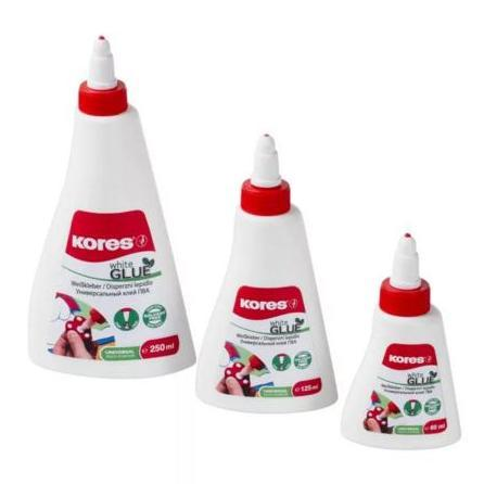 """Клей ПВА """"White Glue"""", Kores 60 мл, 125 мл, 125 мл, 500 мл (Цены на объемы см. подробнее)"""