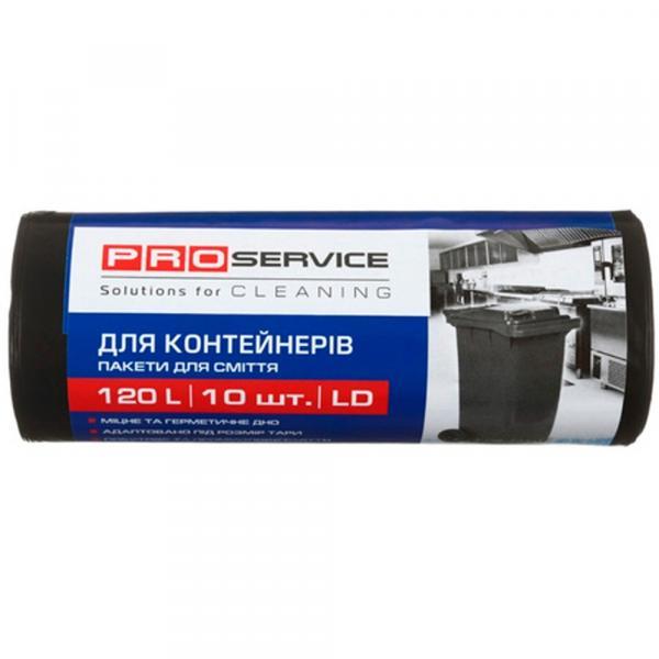 Мешки для мусора PROservice 120 л., ПВД, 32 микрон, 10 шт/рул