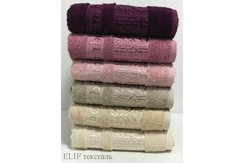 """Набор бамбуковых полотенец  """"Zumrut - 1""""   Турция, 6 шт. разноцветные"""