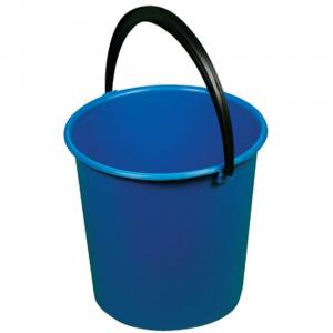 Фото Хозяйственные товары (ЦЕНЫ БЕЗ НДС), Инвентарь для уборки, губки, коврики для пола, стремянки Ведро пластмассовое OfficeClean Professional, цвет синий, 10л