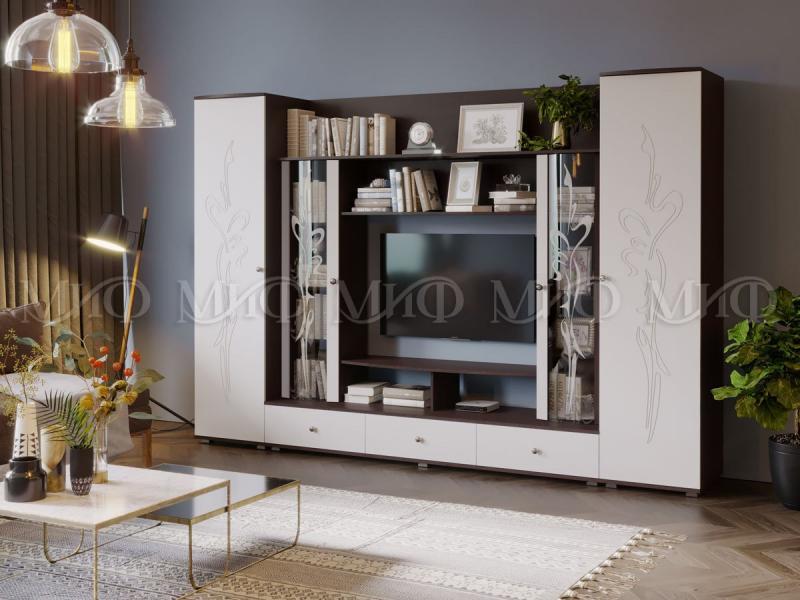 Фото Стенки и мебель для гостиной  Гостиная Орхидея (МИФ)