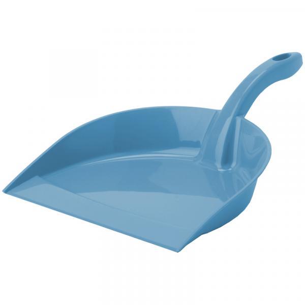 """Совок для мусора Idea """"Идеал"""", низкая ручка, пластик, 23*5*31см, серо-голубой"""