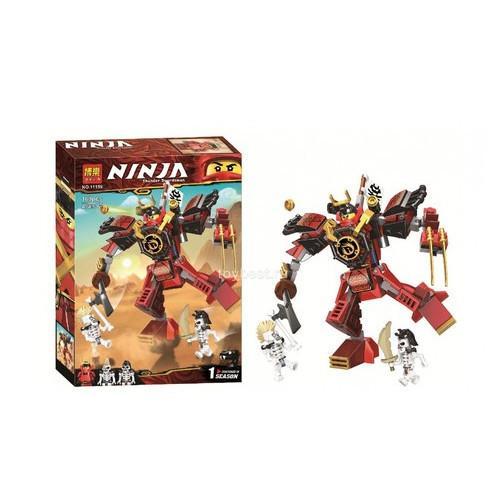 Фото Конструкторы, Конструкторы типа «Лего», Ниндзя Го (Ninja Go) 11159 Конструктор Huada Toys BELA Ninja Робот-самурай 160 деталей