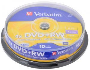 Фото Аксессуары для техники (ЦЕНЫ БЕЗ НДС), CD, DVD Диск DVD-RW 4,7 Гб Verbatim 10 и 25 шт в уп. (ЦЕНЫ см. подробнее)