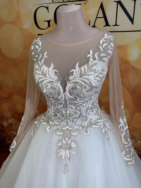 Пышное блестящее свадебное платье Миранда