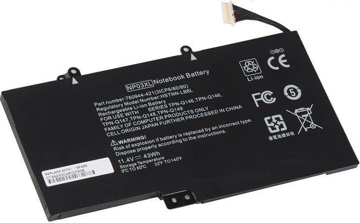 Батарея для HP NP03XL (Envy x360 15-W000, 15-W100, 13-A000, 13-A100, 15-U000, 13-B100, 15-U000, 15-U300)