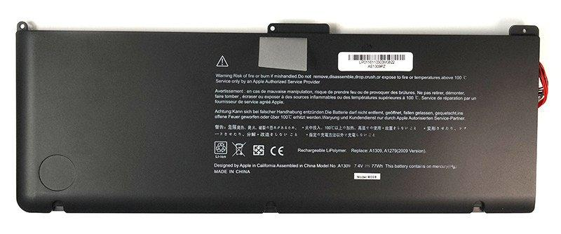 """Аккумулятор PowerPlant для ноутбуков APPLE MacBook 17"""" (A1309) 7.4V 77Wh"""