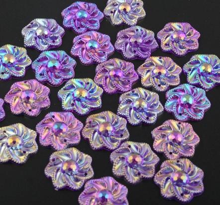 Фото Серединки ,кабашоны, Кабашоны, камеи Кабашон  пришивной   21 мм.   Цветок