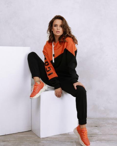 Фото  Спортивные костюмы ISSA PLUS SA-66  XL черный/оранжевый