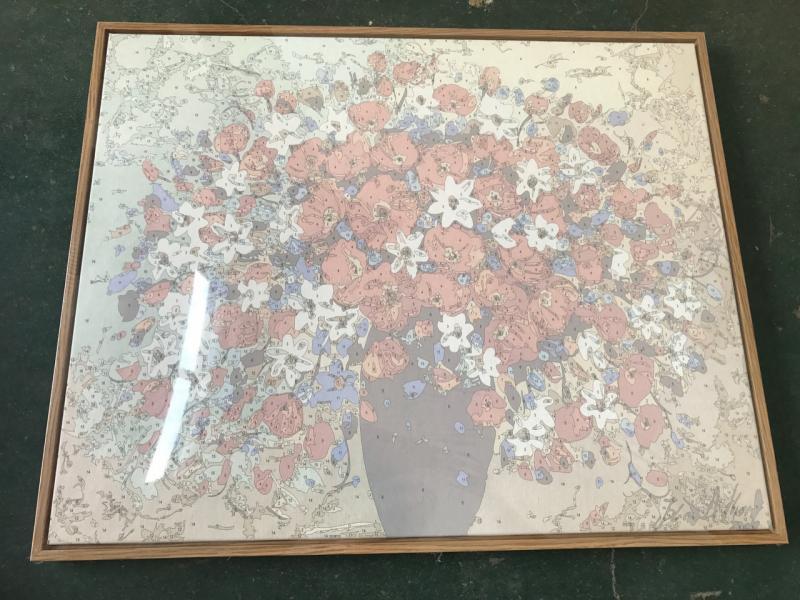 Фото  NBR 1153 Цветущий сад (цветной холст в рамке)  Premium 40x50см
