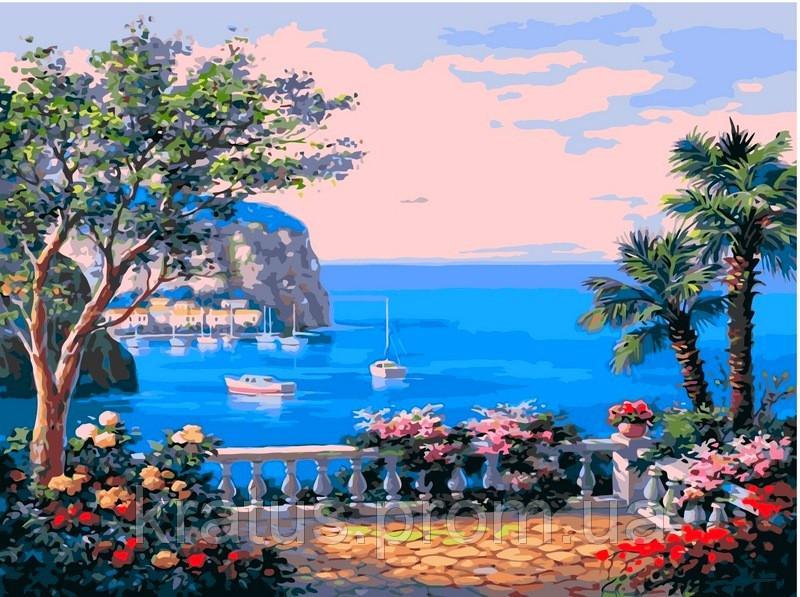 Фото Картины на холсте по номерам, Морской пейзаж VP 013