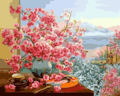 Фото Картины на холсте по номерам, Букеты, Цветы, Натюрморты VP 964