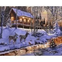 Фото Картины на холсте по номерам, Зима! Новый Год! Рождество! VP 1003