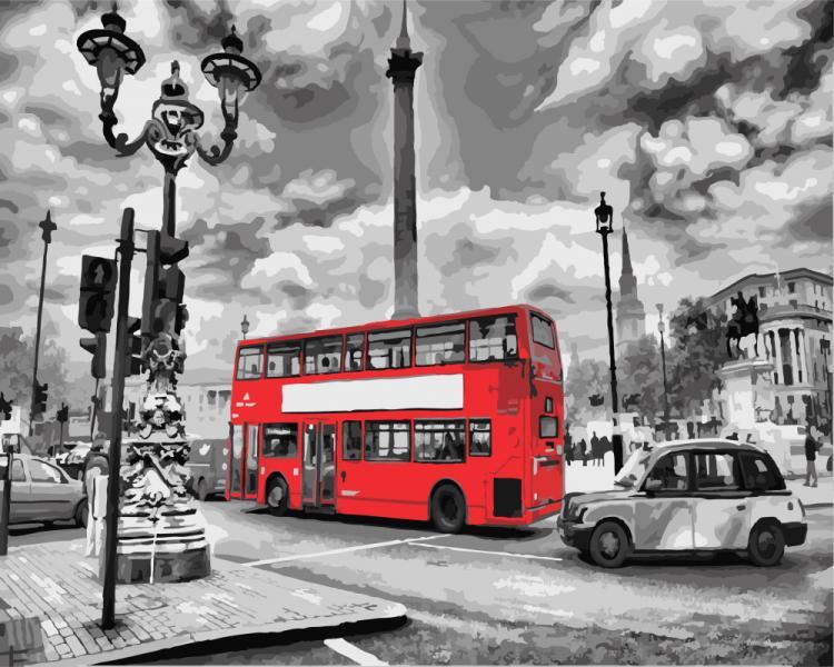 Фото Картины на холсте по номерам, Городской пейзаж GX 8246