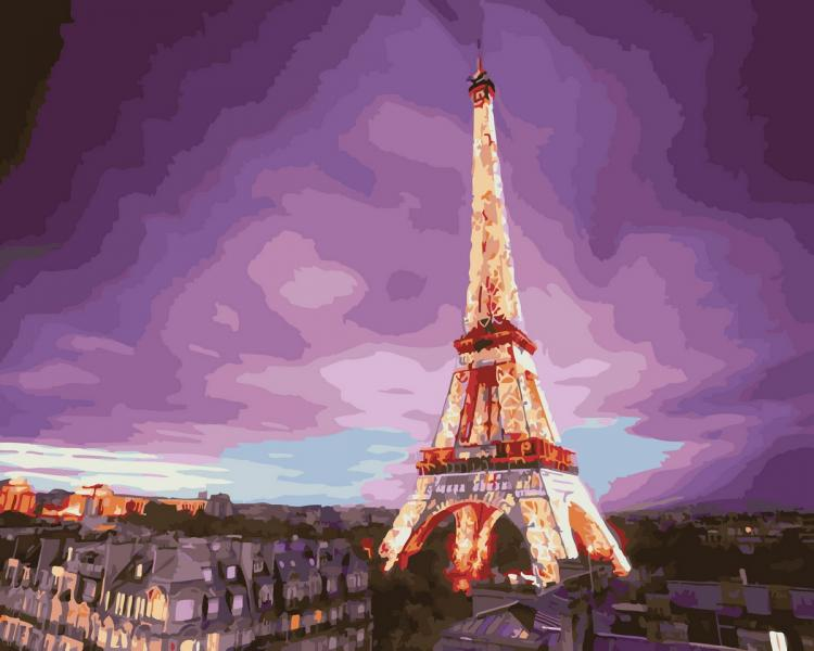Фото Картины на холсте по номерам, Городской пейзаж KGX 28710 Грозовые облака Роспись по номерам на холсте 40х50см