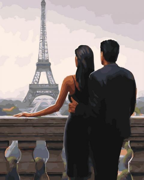 Фото Картины на холсте по номерам, Романтические картины. Люди KGX 30669 Однажды на балконе Картина по номерам на холсте 40х50см