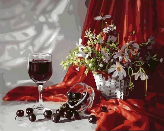 Фото Картины на холсте по номерам, Букеты, Цветы, Натюрморты KGX 21269