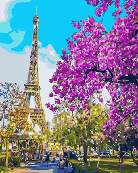 Фото Картины на холсте по номерам, Городской пейзаж KGX 3777