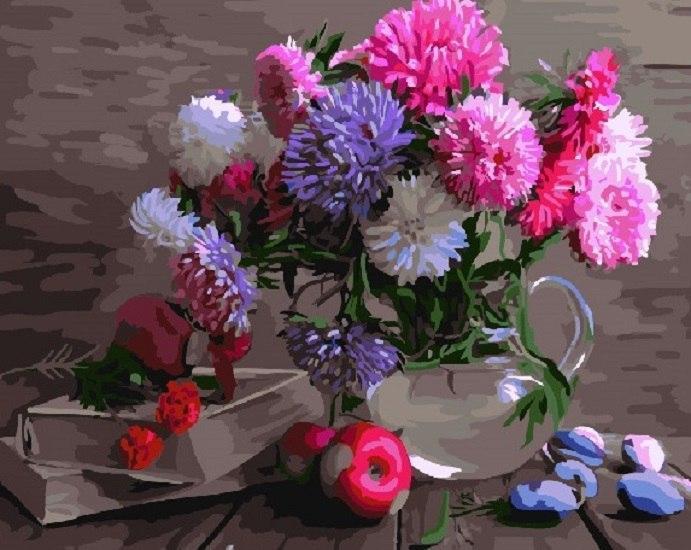 Фото Картины на холсте по номерам, Букеты, Цветы, Натюрморты KGX 4135