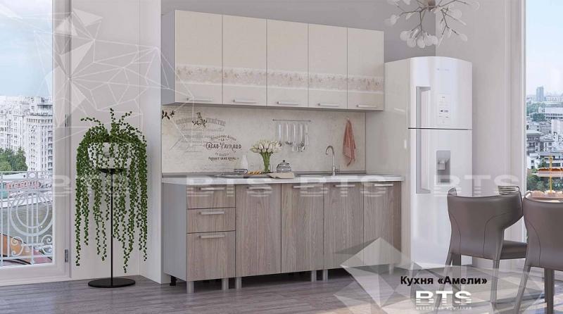 Фото Кухни готовые Кухня Амели 2,0м ясень светлый/твист (БТС)